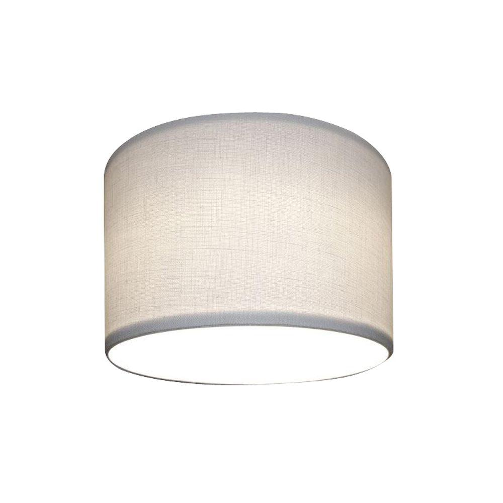 White Linen Recessed Lighting With Can Shade