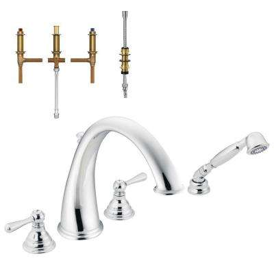 Chrome - Hand Shower - MOEN - Roman Tub Faucets - Bathtub Faucets ...