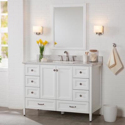 Claxby 48 in. W x 34 in. H x 21 in. D Bath Vanity Cabinet Only in White
