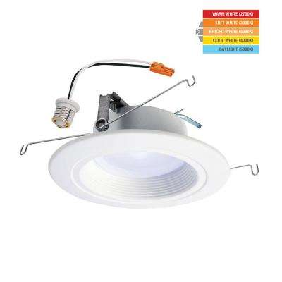 RL 5 in. and 6 in. White Integrated LED Recessed Light Retrofit with Selectable CCT (2700K-5000K), Stronger Brightness
