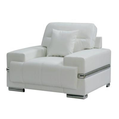 William's Home Furnishing - Zibak White and Chrome Contemporary Style Living Room Chair