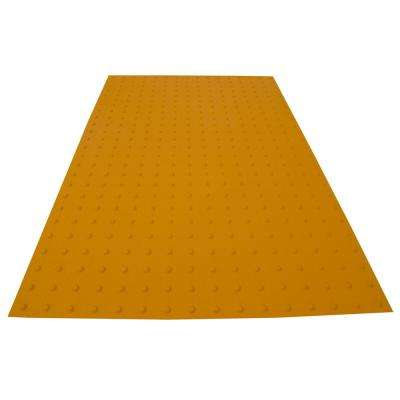 PowerBond 36 in. x 5 ft. Federal Yellow ADA Warning Detectable Tile (Peel and Stick)