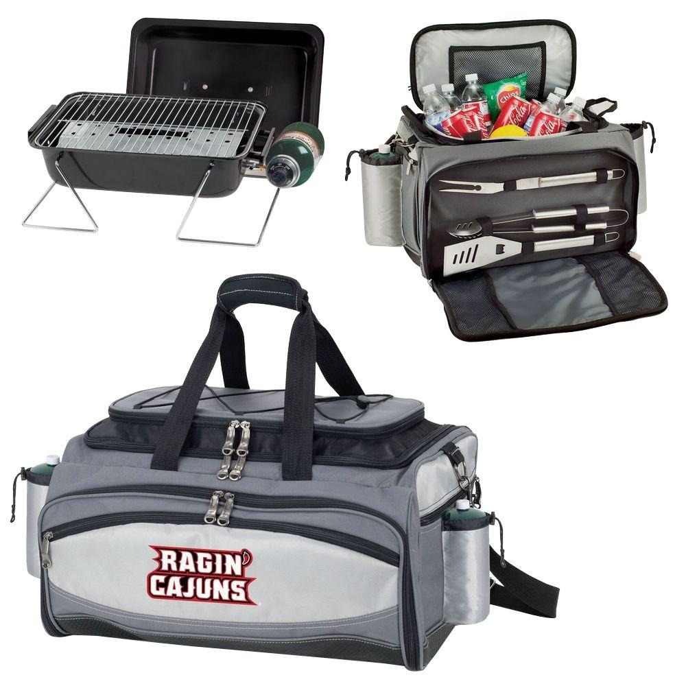 Picnic Time Louisiana Ragin Cajuns - Vulcan Portable Propane Grill and Cooler Tote by Embroidered