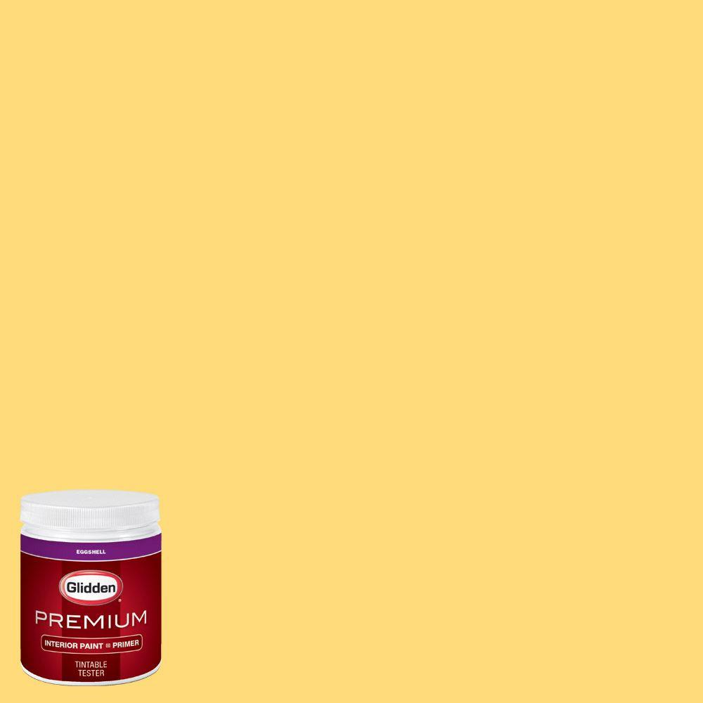 Glidden premium 8 oz hdgy40u yellow rose eggshell for Eggshell yellow paint