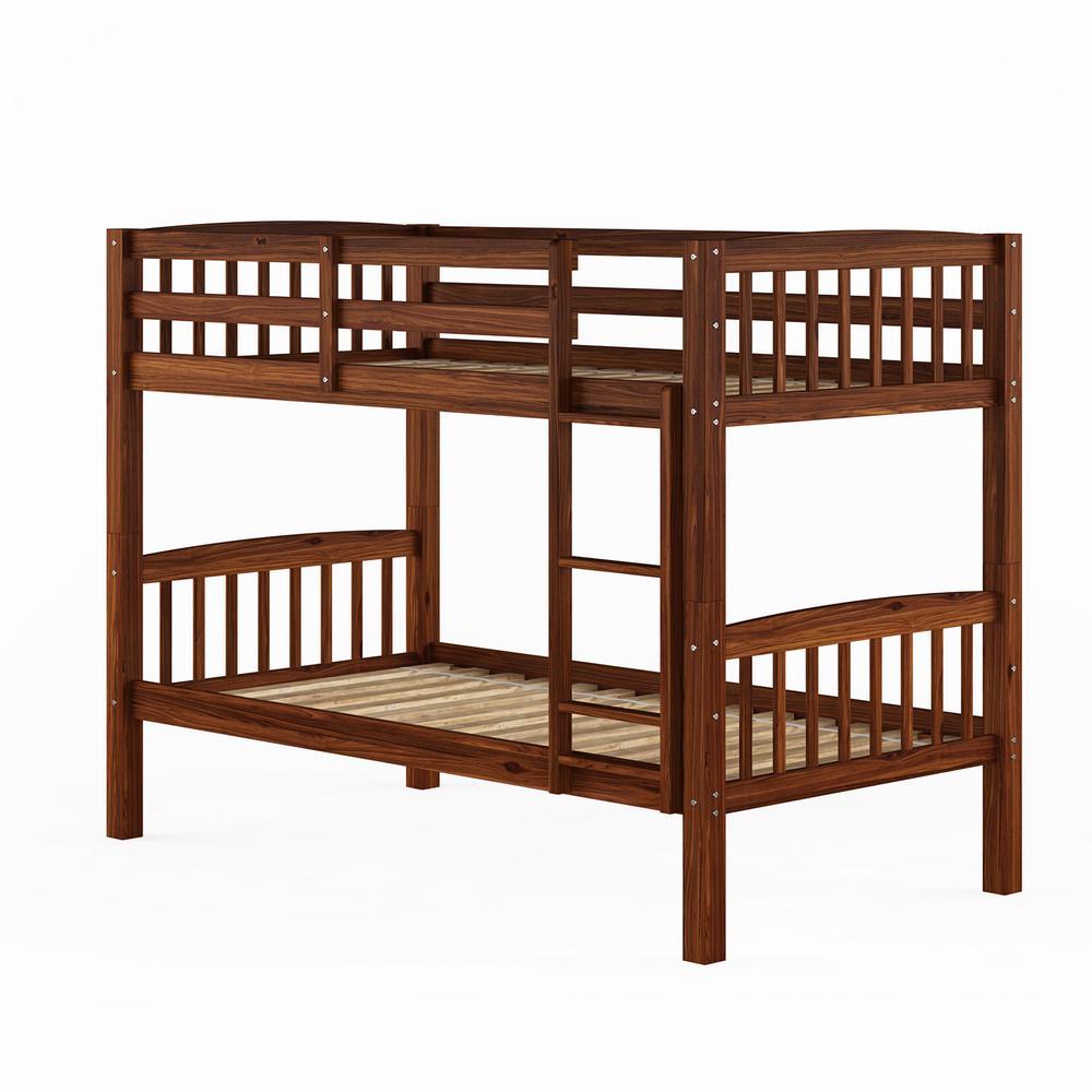 Corliving Dakota Walnut Brown Twin Single Bunk Bed Bdn 290 B The