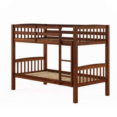 Dakota walnut Brown Twin/Single Bunk Bed