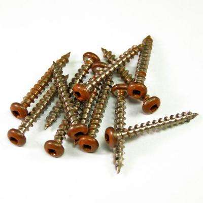 1-1/2 in. Stainless Steel Lattice California Redwood Screws (12-Piece/Bag)
