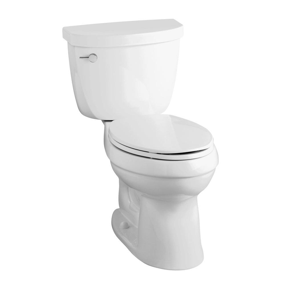 KOHLER Cimarron Comfort Height 2-piece 1.6 GPF Elongated Toilet with AquaPiston Flushing Technology in White