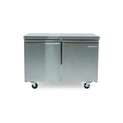12 cu. ft. 2 Door Under Counter Refrigerator in Stainless Steel