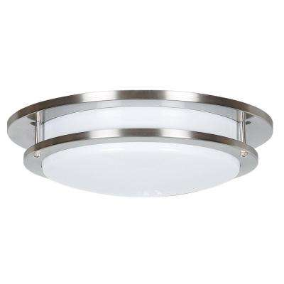 Roxie 1-Light Satin Nickel Flush Mount
