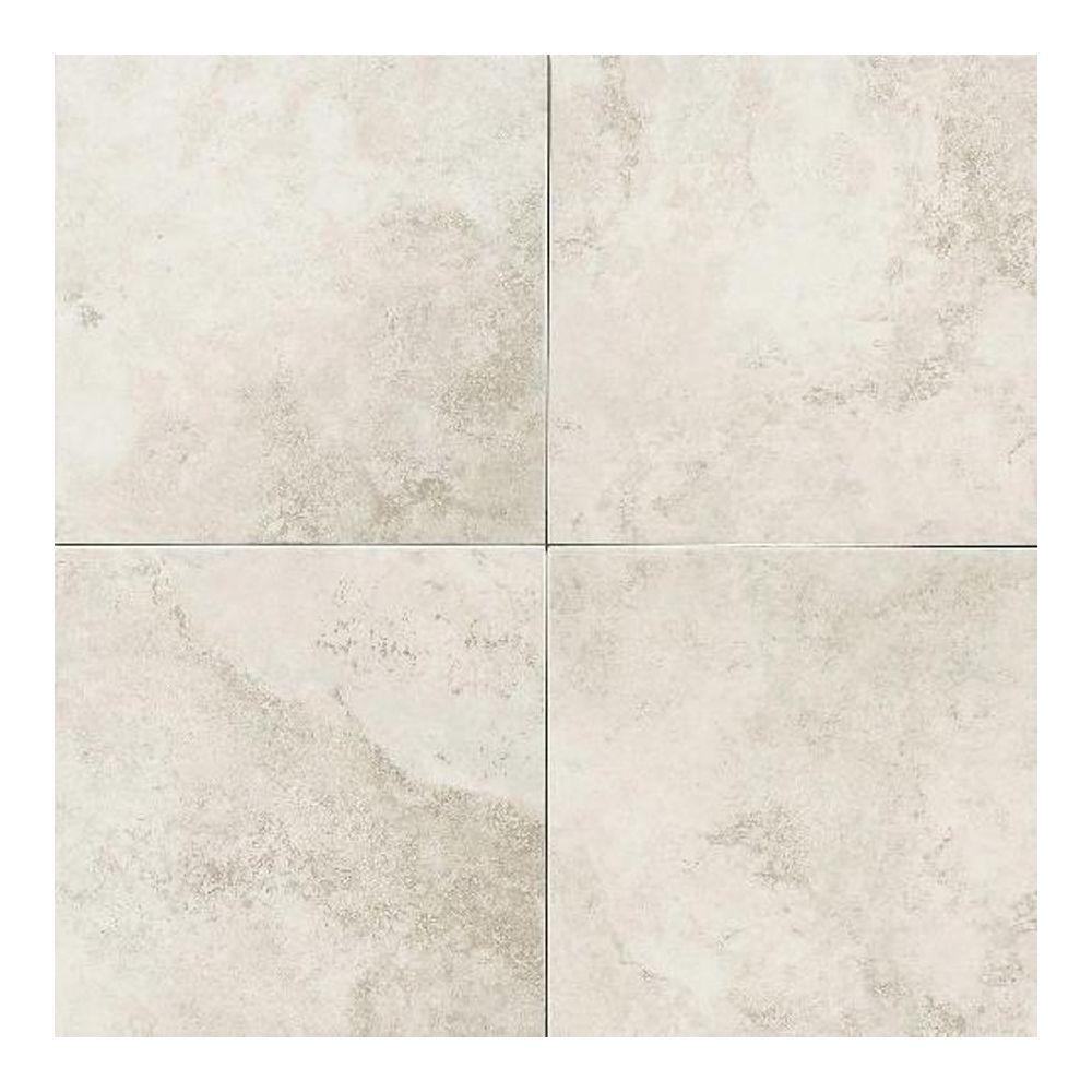 Daltile Glacier White In X In Ceramic Floor And Wall Tile - 16 inch ceramic floor tile