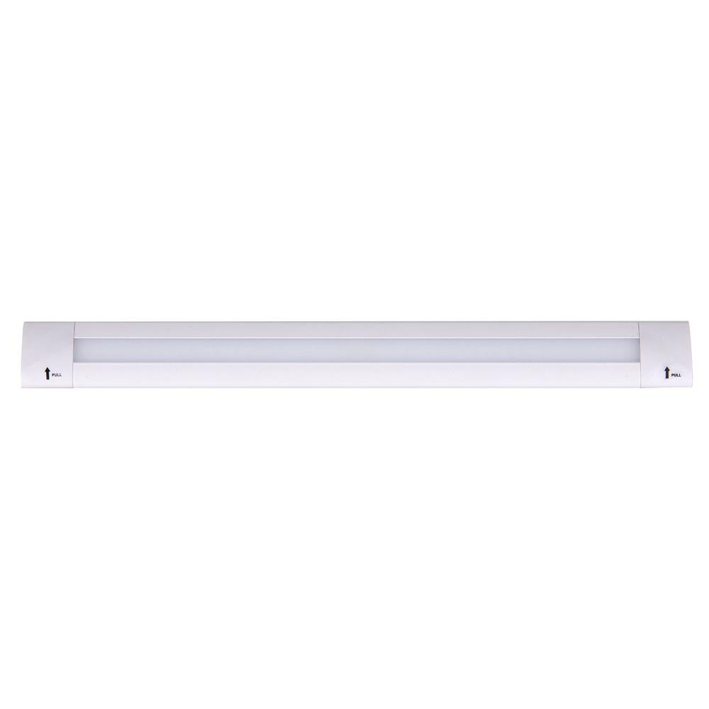 ADL Lumin 9 in. White Indoor Linear LED Under Cabinet Light