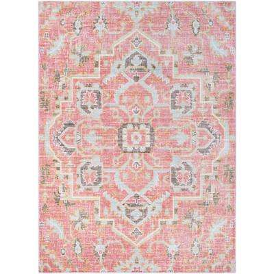 Karolina Pale Pink 8 Ft X 10 Indoor Area Rug