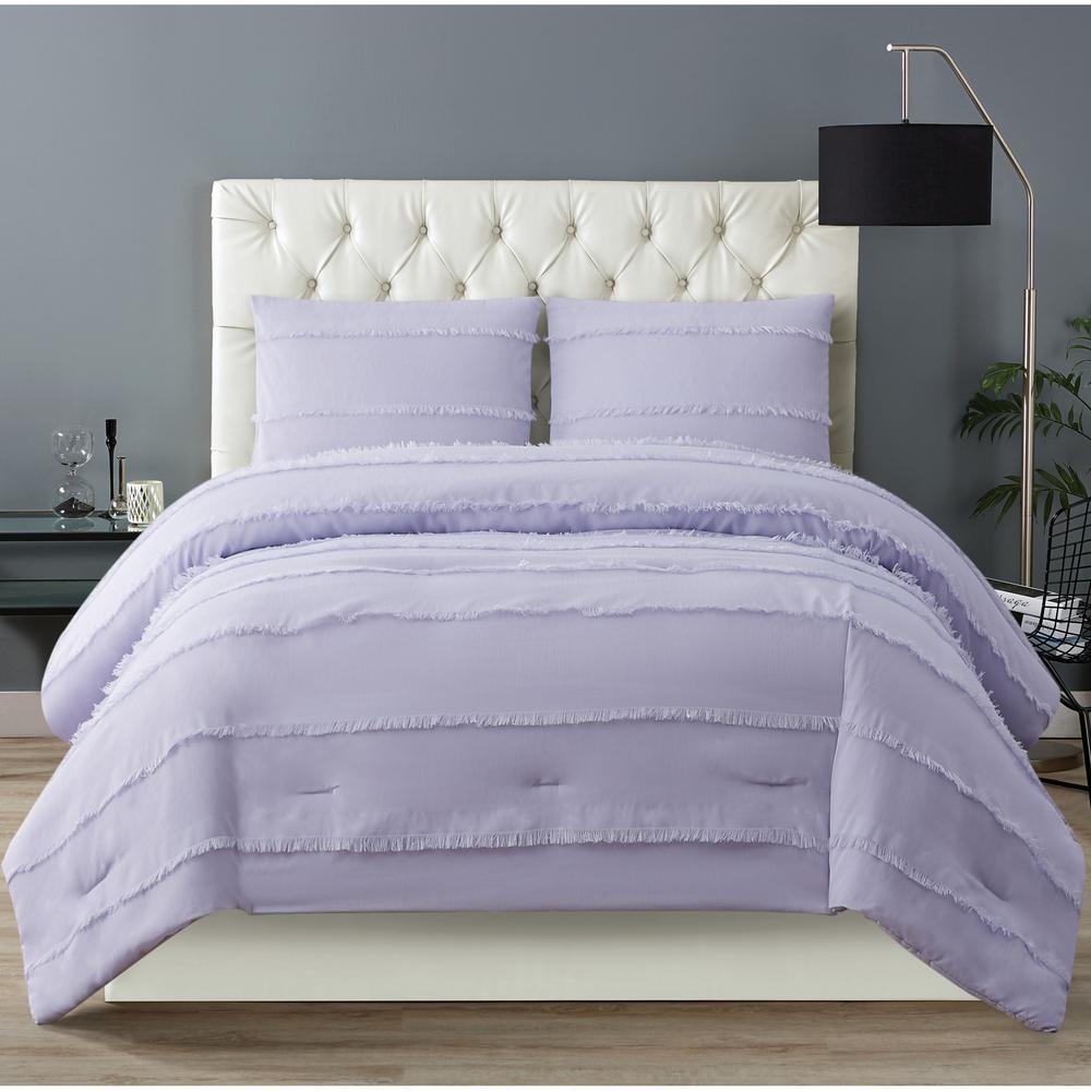Kristen 2-Piece Lavender Twin XL Comforter Set