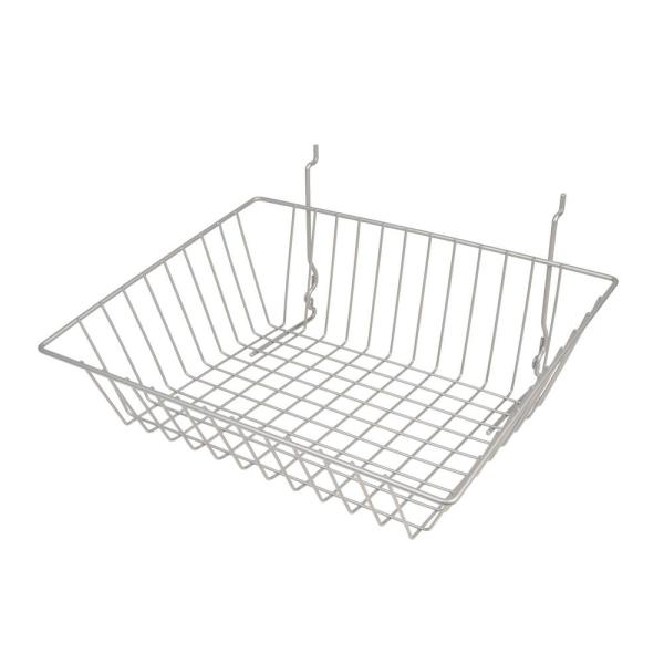 15 in. W x 12 in. D x 5 in. H Chrome Sloping Wire Basket (Pack of 6)
