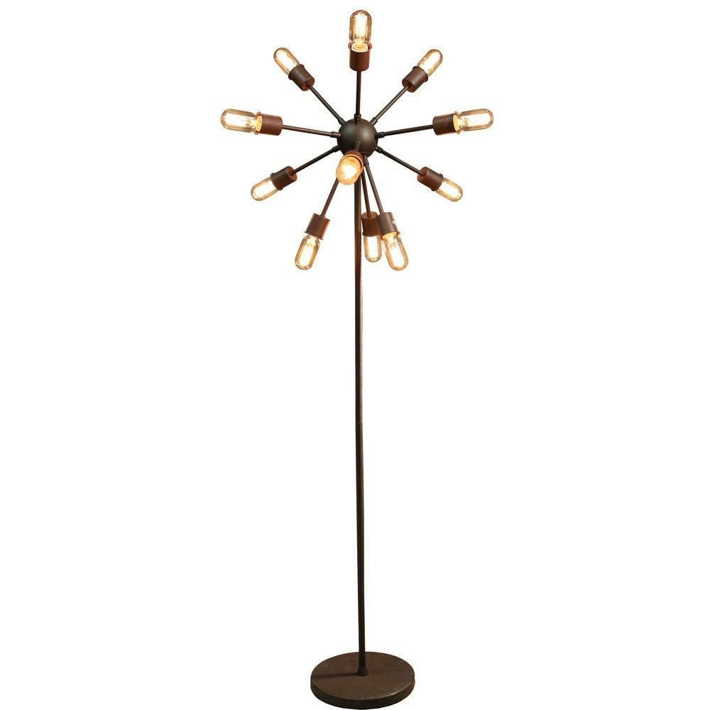 Marguirite 8 in. 12-Light Bronze Indoor Floor Lamp with Light Kit