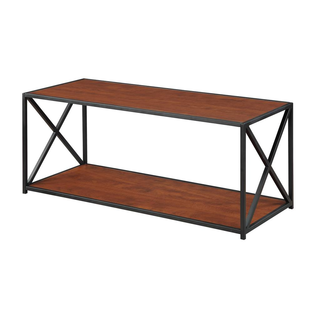 cherry coffee table. Convenience Concepts Tucson Black And Cherry Coffee Table