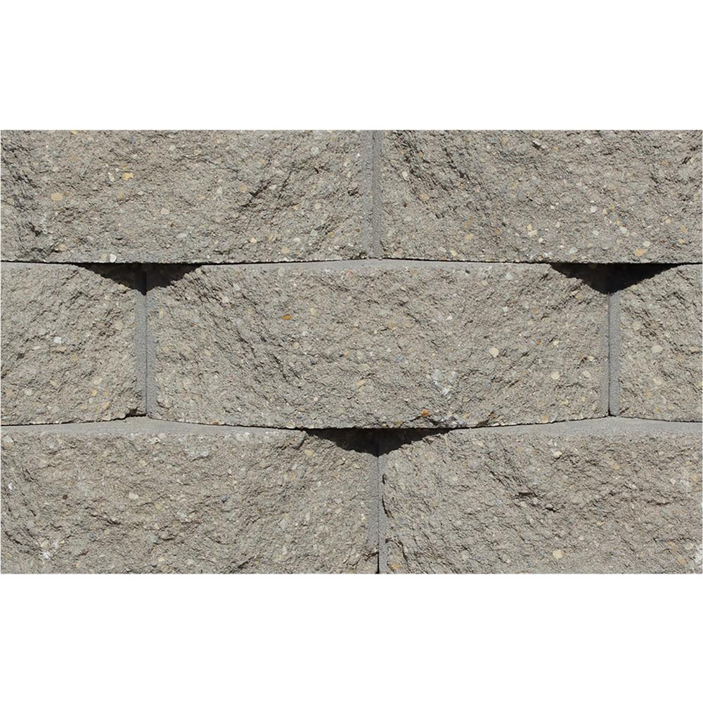 Rockwood Retaining Walls Cottage Stone 4 in. H x 12 in. W x 8.5 in. D Gray Concrete Garden Wall Block (96-Pieces/31.68 sq. ft./Pack)