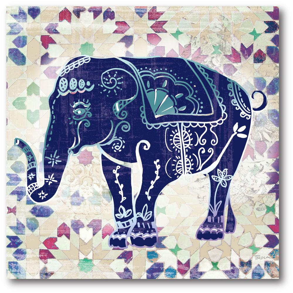 16 In X 16 In Quot Painted Elephant Ii Quot Canvas Wall Art Web