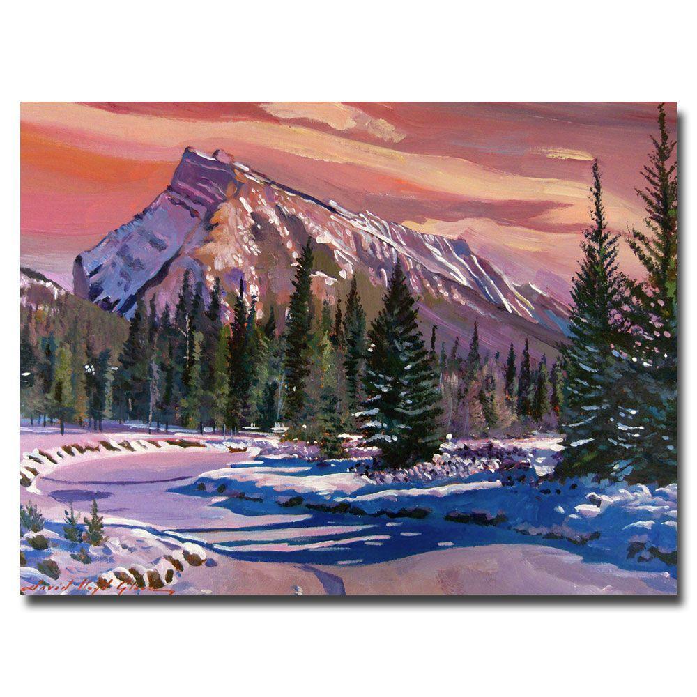 24 in. x 32 in. Ice River Sunrise Canvas Art
