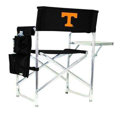 University of Tennessee Black Sports Chair with Embroidered Logo