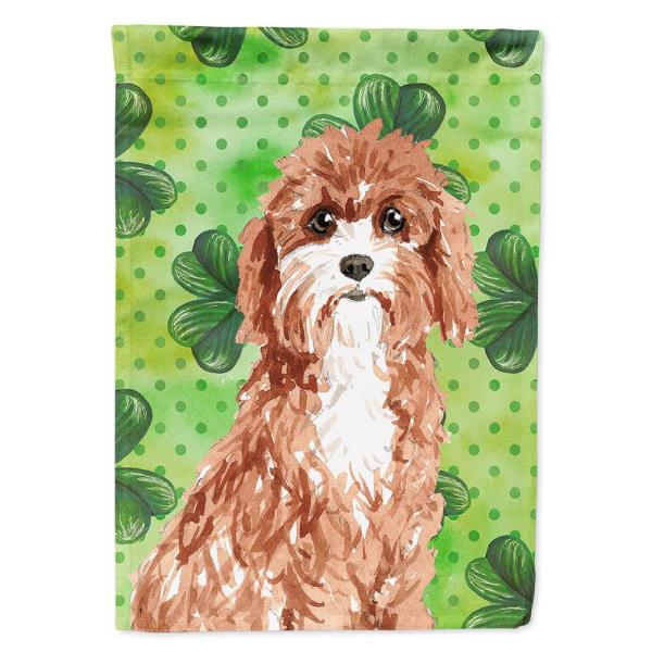 Caroline S Treasures 11 In X 15 1 2 In Polyester Shamrocks Cavapoo 2 Sided 2 Ply Garden Flag Ck1807gf The Home Depot