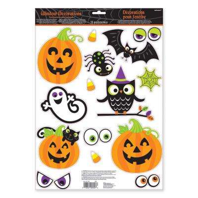 Halloween Family Friendly Window Decoration (6-Pack)
