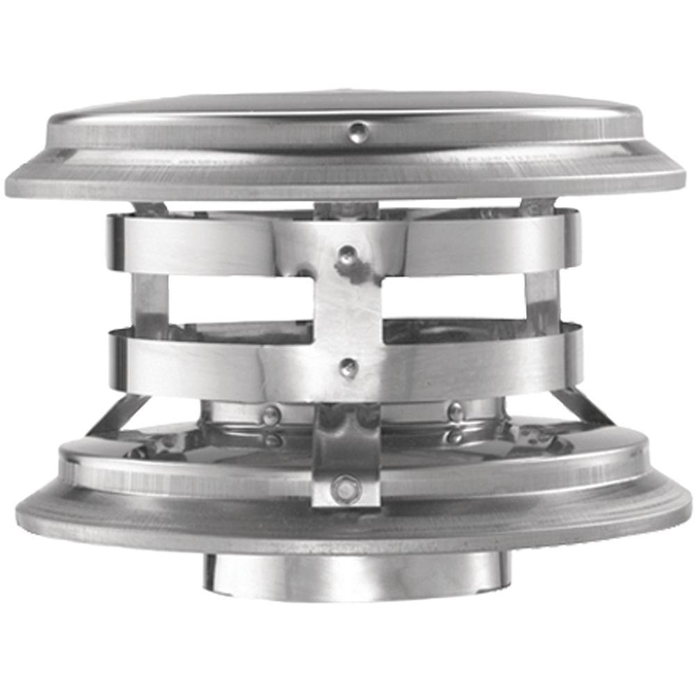 PelletVent 3in. Fixed Vertical Chimney Cap
