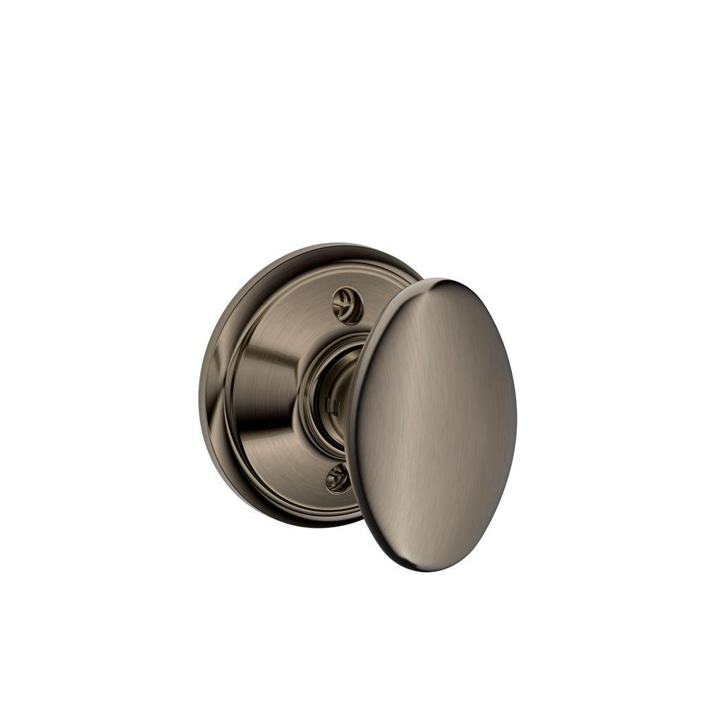 Schlage Siena Antique Pewter Dummy Knob