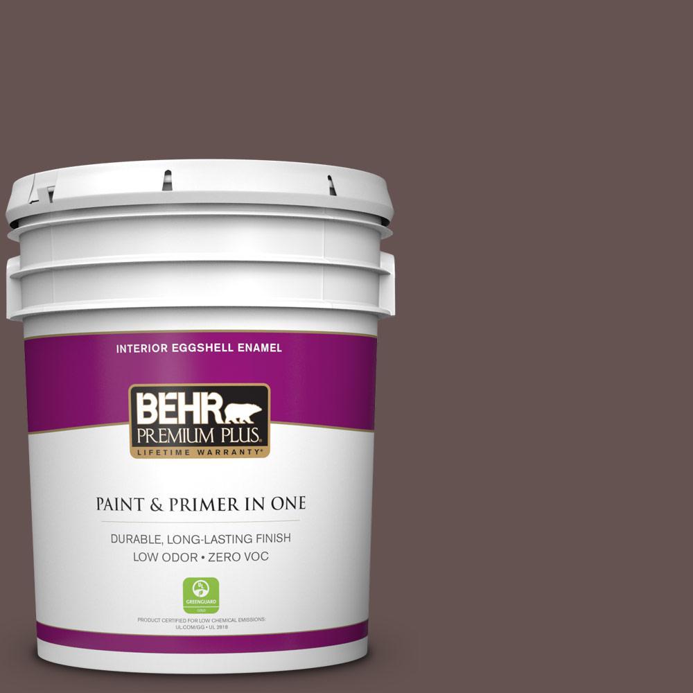 5 gal. #BNC-33 Harvest Oak Zero VOC Eggshell Enamel Interior Paint