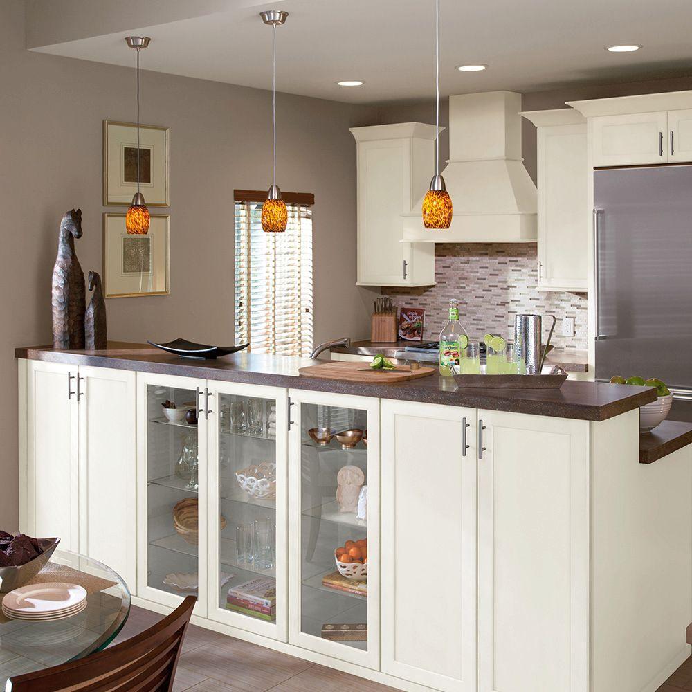 American Woodmark 14 9 16 In X14 1 2 In Cabinet Door Sample In Leesburg Painted Linen 95294 The Home Depot