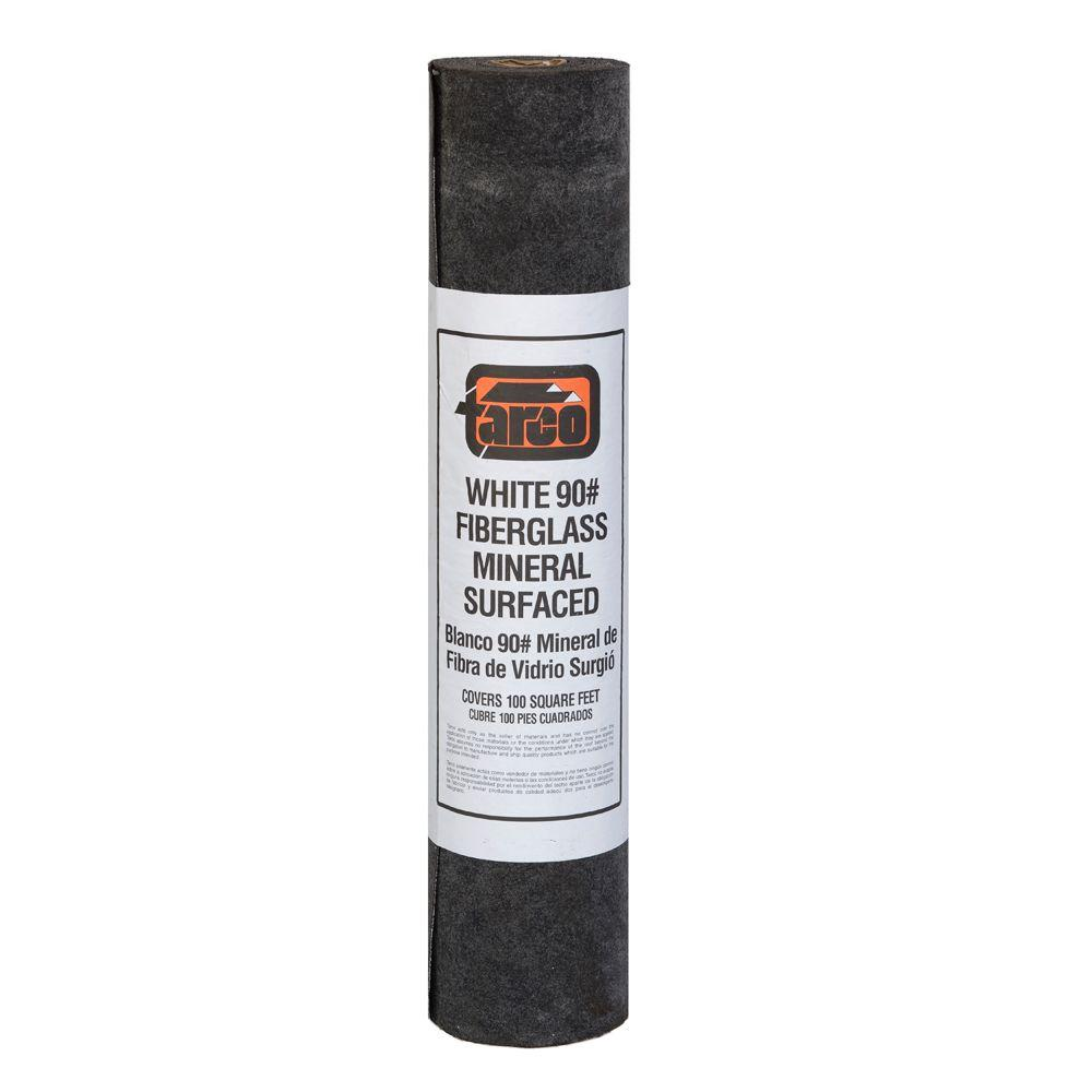 Coverage White Fiberglass Mineral Surfaced Cap Roll Roofing 24/008006   The Home  Depot