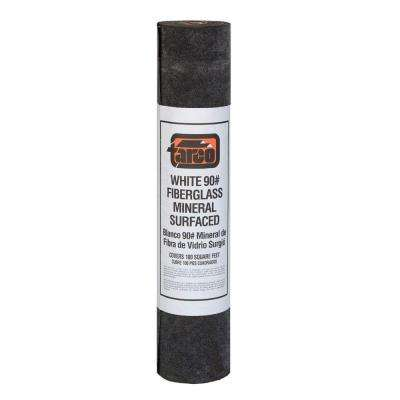 3 ft. x 36 ft. 100 sq. ft. Coverage White Fiberglass Mineral-Surfaced Cap Roll Roofing