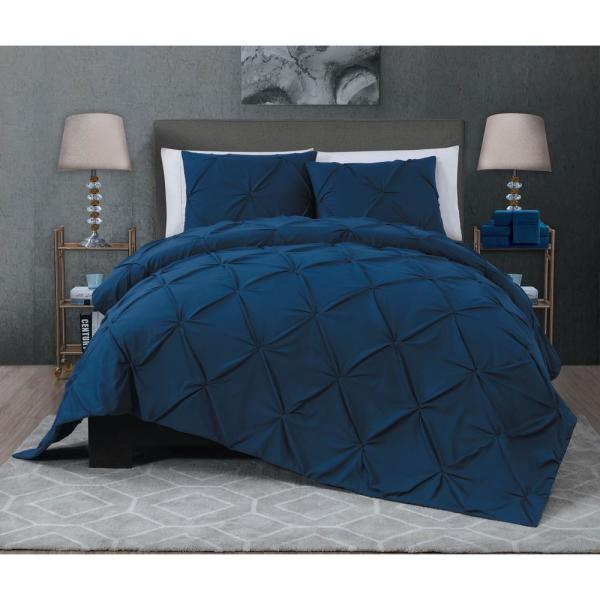 Ella 7-Piece Navy King Quilt Set ELL7QTKINGGHNV