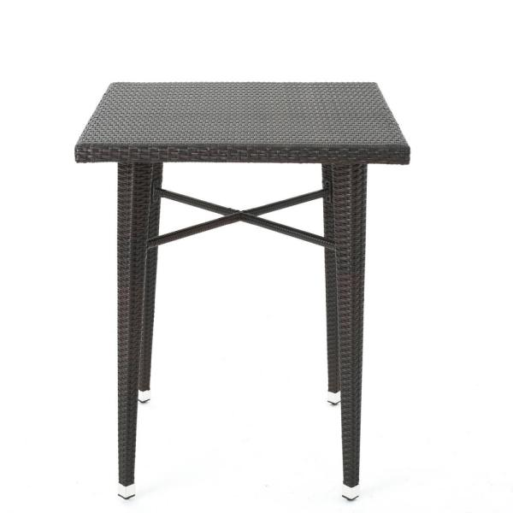 Dominica Multi-brown Square Wicker Outdoor Side Table