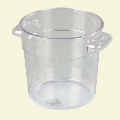 1 qt. Polycarbonate Round Storage Container in Clear (Case of 12)