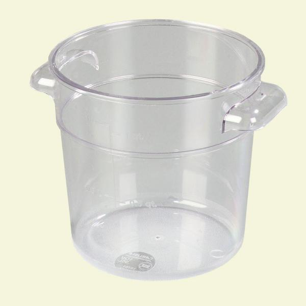 Carlisle 1 qt. Polycarbonate Round Storage Container in Clear (Case of 12)