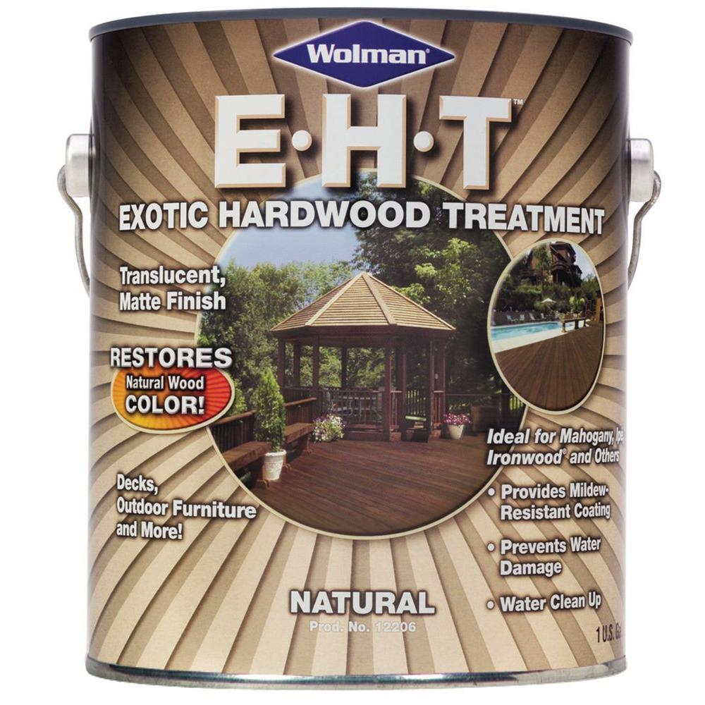 Wolman 1 Gal Eht Natural Exotic Hardwood Treatment Protector And Restorer 4 Pack