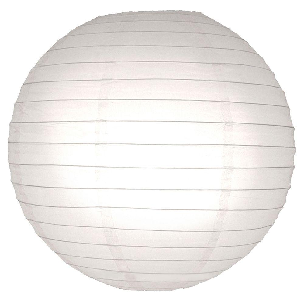 lumabase 10 in round paper lanterns 5 count 78005 the home depot