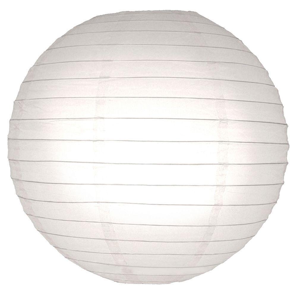 Lumabase 10 in. Round Paper Lanterns (5-Count) 78005