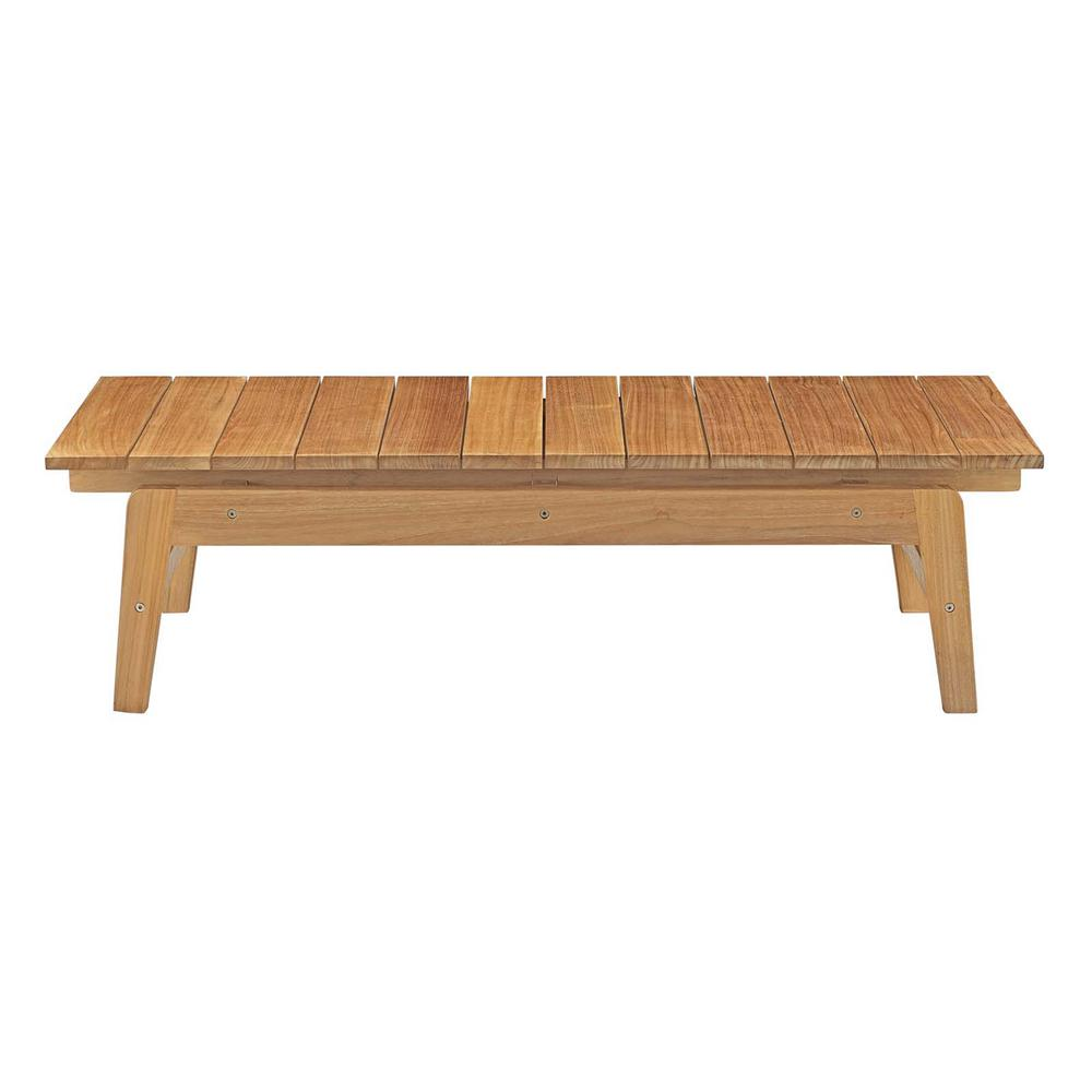 Bayport Patio Teak Outdoor Coffee Table in Natural