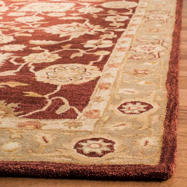 Safavieh Anatolia Red Sage 8 Ft X 10 Ft Area Rug An556f 8 The Home Depot