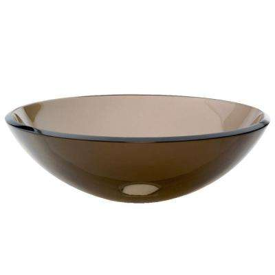 Translucence Vessel Sink in Transparent Charcoal