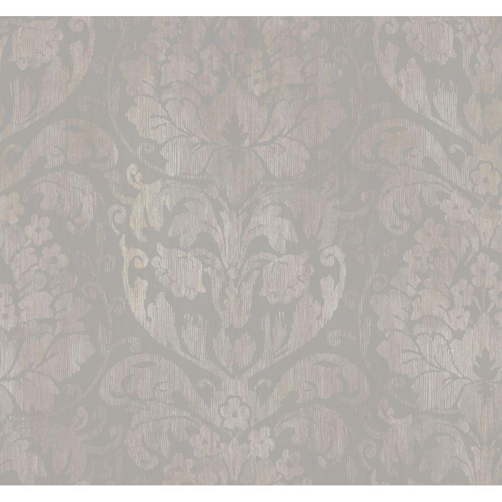 York Wallcoverings 60.75 sq. ft. Stria Damask Wallpaper