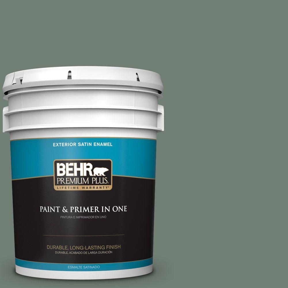 BEHR Premium Plus 5-gal. #N420-5 Boreal Satin Enamel Exterior Paint