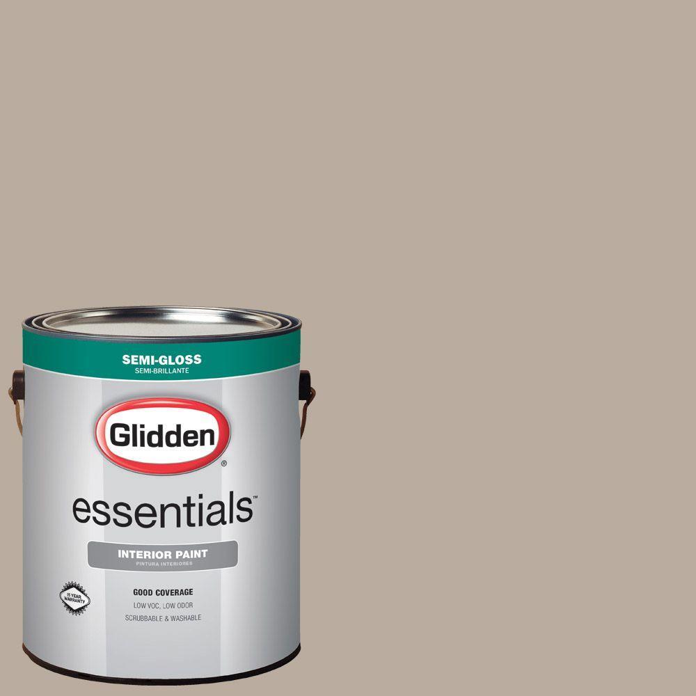 Glidden Essentials 1 gal  #HDGWN25U Castle Rock Semi-Gloss Interior Paint