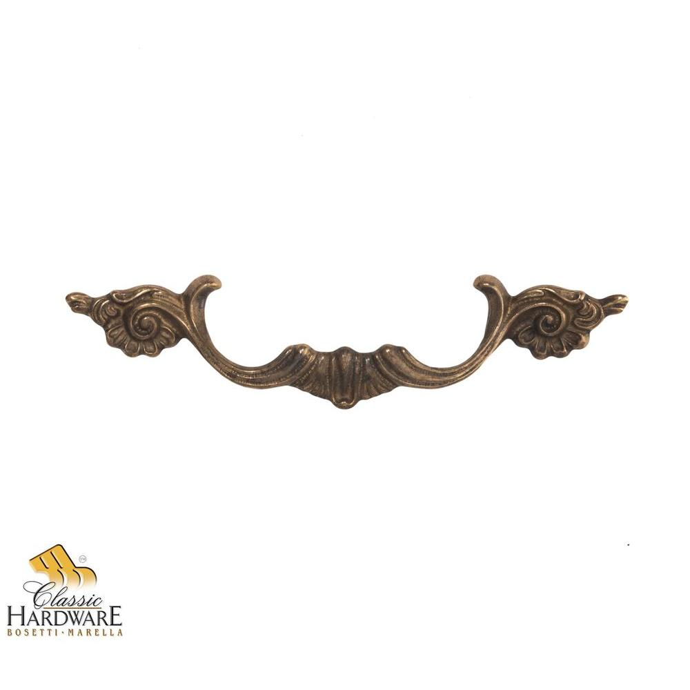 Louis XV 6.22 in. Antique Brass Distressed Handle Pull