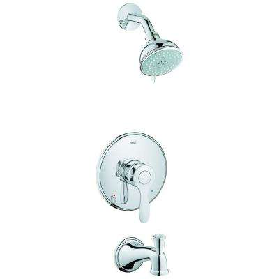 Parkfield Single-Handle 4-Spray Tub and Shower Faucet Combination in StarLight Chrome (Valve Not Included)