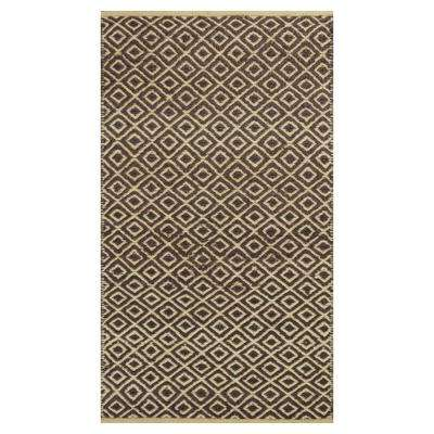 Diamonds Forever Brown/Beige 5 ft. x 8 ft. Area Rug