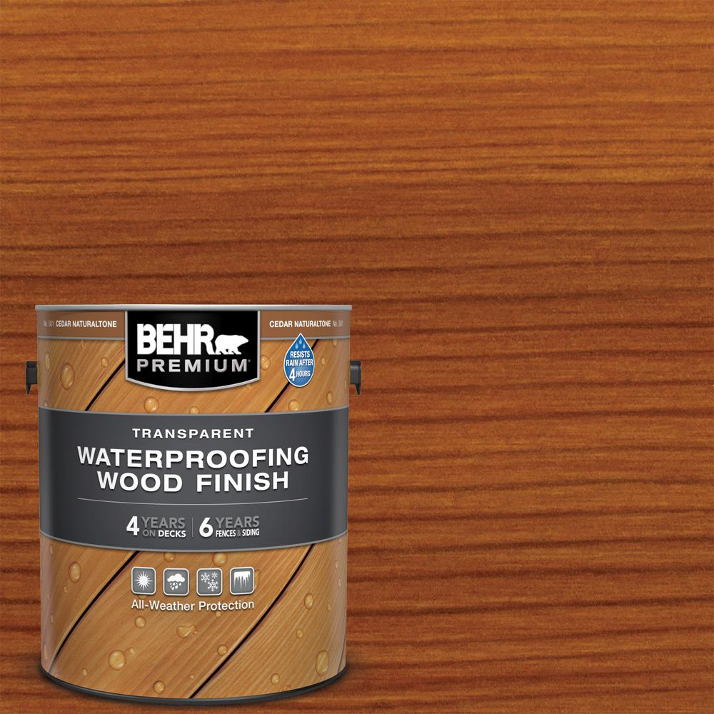 BEHR PREMIUM 1 gal. Cedar Naturaltone Transparent Waterproofing Exterior Wood Finish